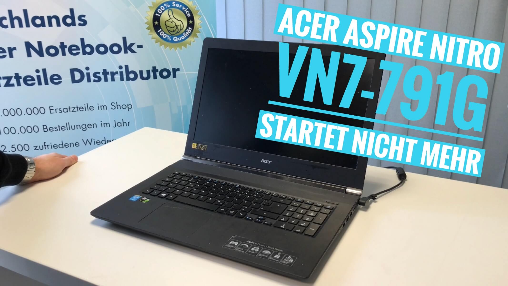 acer aspire nitro vn7 791g startet nicht mehr notebook. Black Bedroom Furniture Sets. Home Design Ideas