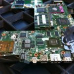 Mainboard für ein HP HDX18 Notebook mit refurbished VGA-Card
