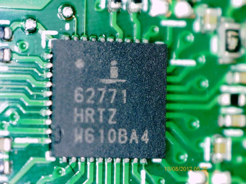 Der PWM Controller für die Stromversorgung der AMD Grafikeinheit war in diesem Fall der Grund für den Defekt.