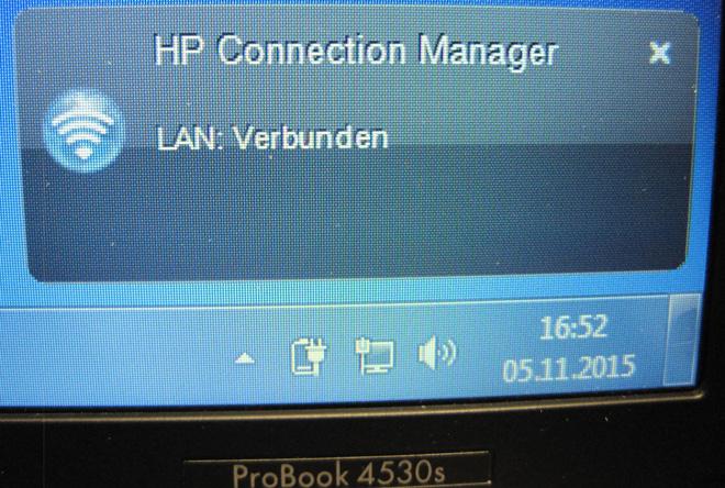 Die LAN-Verbindungen aller vier HP ProBooks funktionierten nach dem Ersetzen der defekten LAN-Buchsen wieder problemlos.