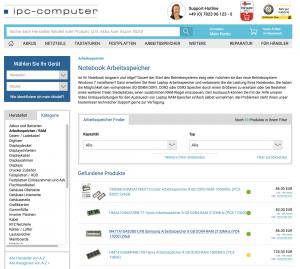 RAM Speicher Finder - einfach Arbeitsspeicher Online kaufen