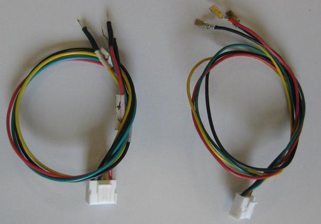 Anschluss über verschiedene Adapter.
