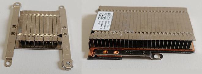 Notebook-Kühlung defekt: Diese beiden Aluminium-Kühler hatten bei dem Asus komplett gefehlt.
