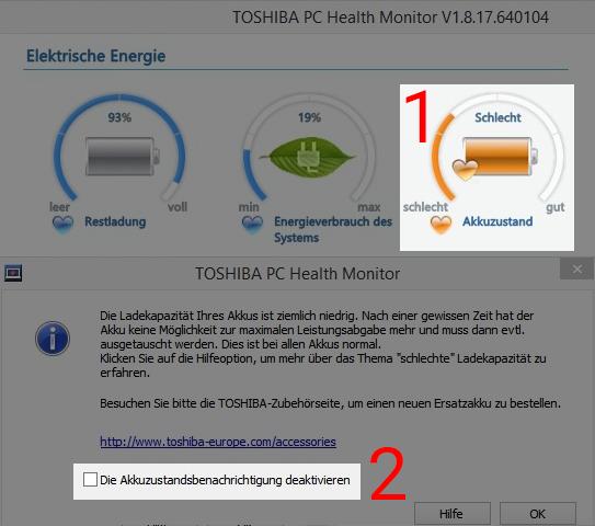 TOSHIBA PC Health Monitor