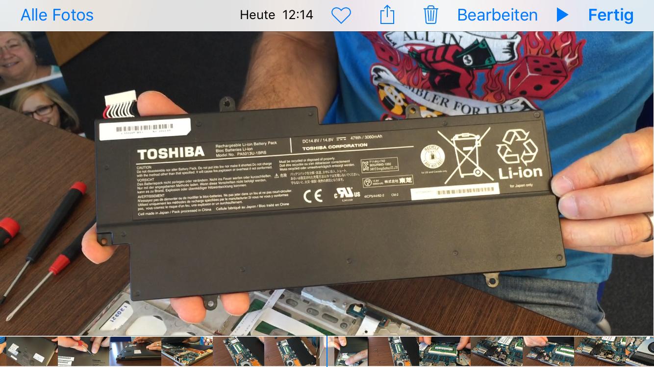 Toshiba Portege Z830 Akku austauschen