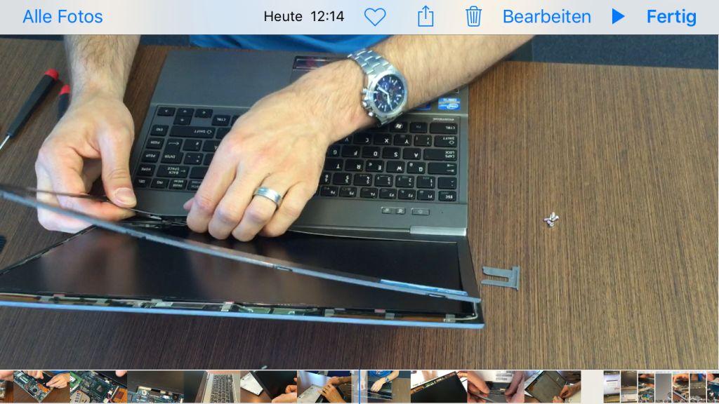 Toshiba Portege Z830 Displaystausch LCD Frontrahmen entfernen