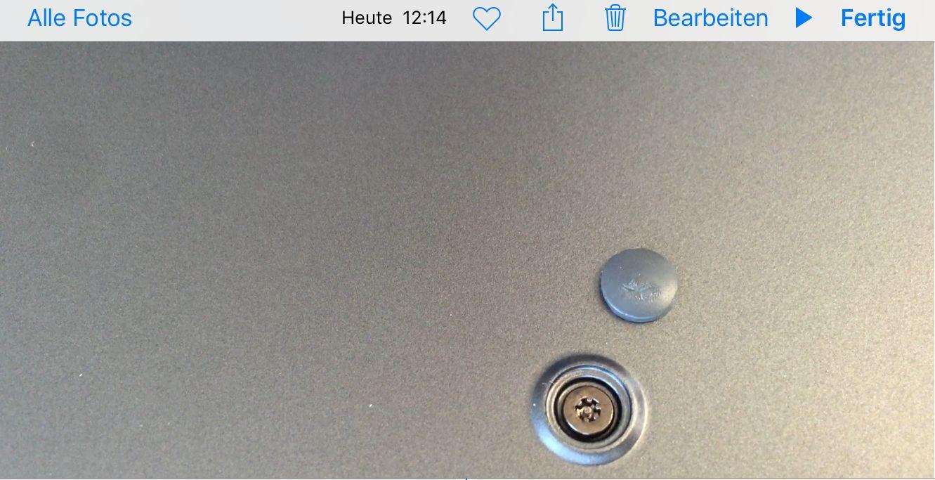 Toshiba Portege Z830 Sonderschraube mit Stift