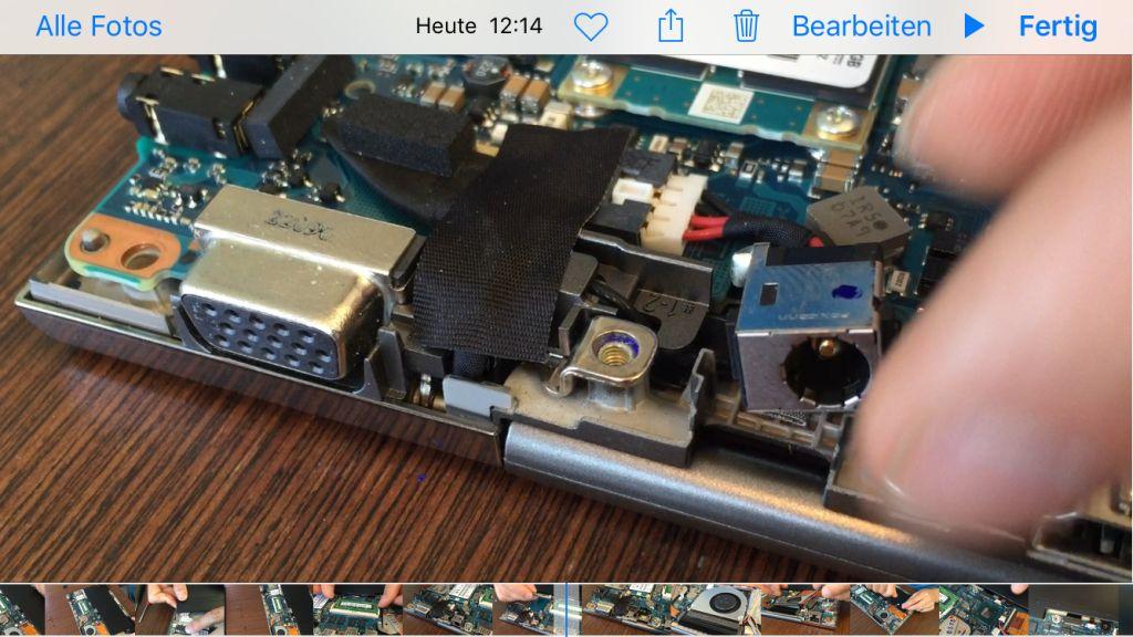 Toshiba Portege Z830 Strombuchsentausch