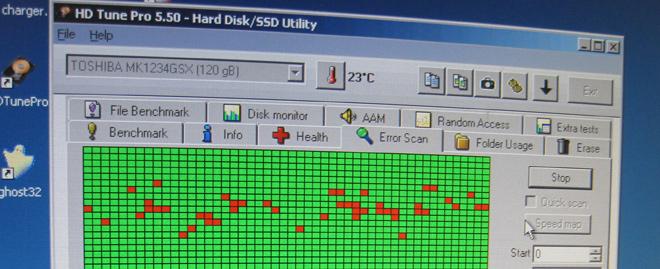 Ein Festpatten-Diagnosetool gibt aufschluss über den technischen Zustand der Festplatte.