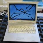 Defektes Notebook Display