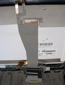 Das schadhafte Display-Kabel