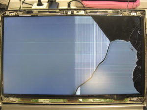 Gerissenes Display am Fujitsu-Lifebook E 754