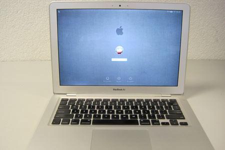 Das MacBook Air funktionierte auch im Akku-Betrieb wieder einwandfrei.