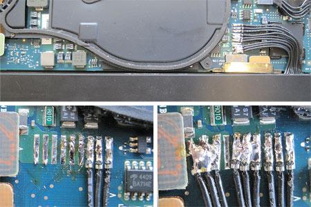 Die Reparatur des MacBook Air in Bildern.