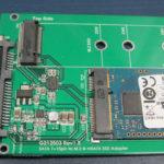 Alte Festplatte auf Klon-Adapter.