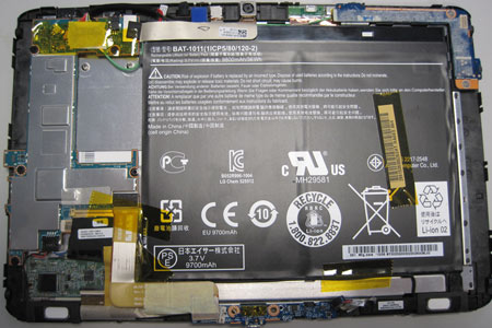 Tablet PC nach dem Öffnen