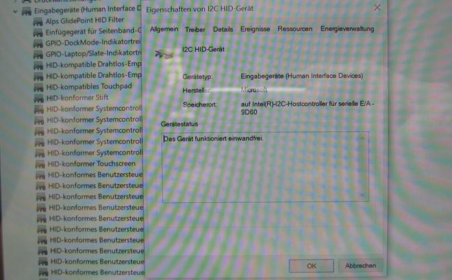 Touchscreen defekt. Treiberproblematik gelöst. Das HP Elite x2 funktioniert wieder einwandfrei.